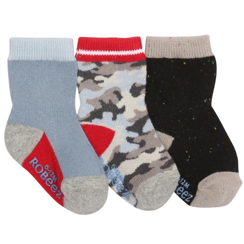 Robeez Robeez Socks Camo 12-24M (3PK)