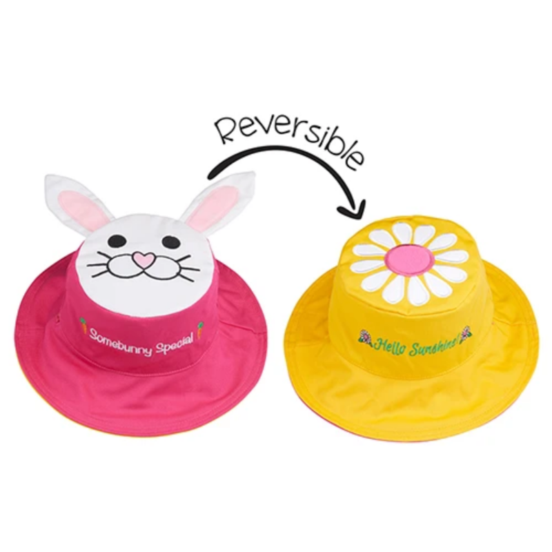 Flapjacks Flapjacks Reversible Sun Hat Bunny + Daisy