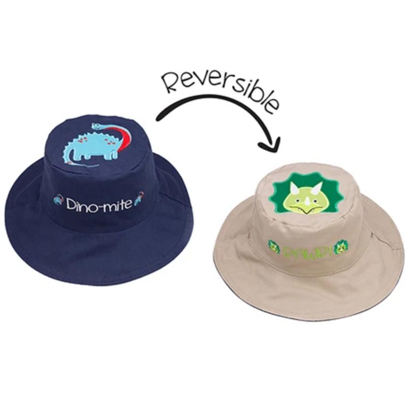 Flapjacks Flapjacks Reversible Sun Hat Dinsosaurs