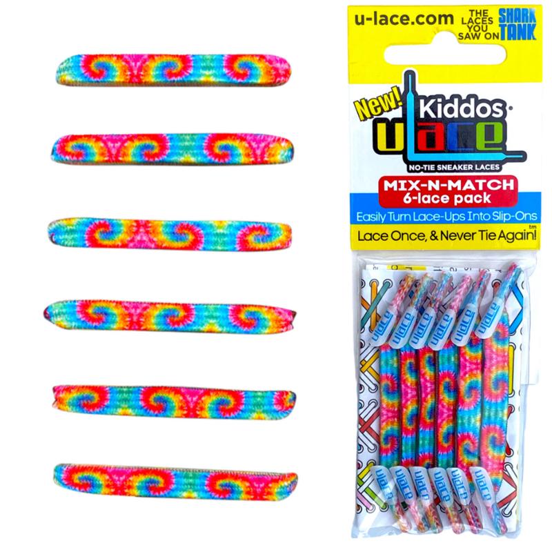 U-Laces Kiddos U-Laces 60's Tie Dye