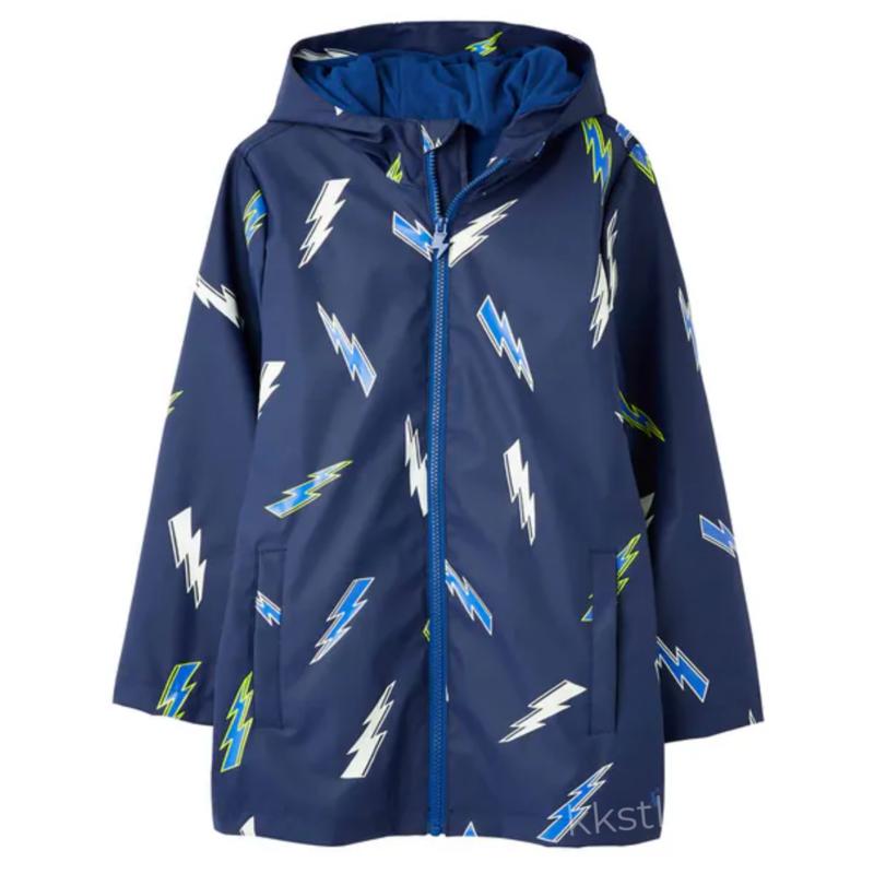 Joules Joules Skipper Lightning Raincoat Navy (Size 7/8)