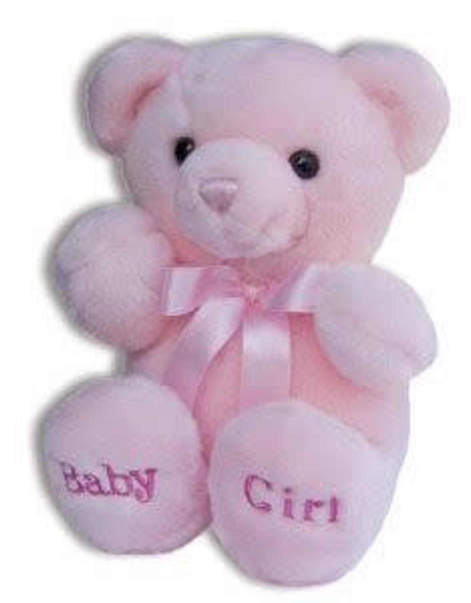 KELLI'S PINK BABY GIRL PLUSH COMFY BEAR