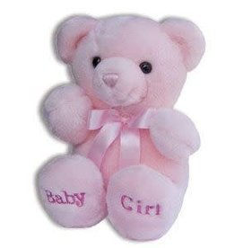 KELLI'S PINK BABY GIRL PLUSH COMFY BEAR