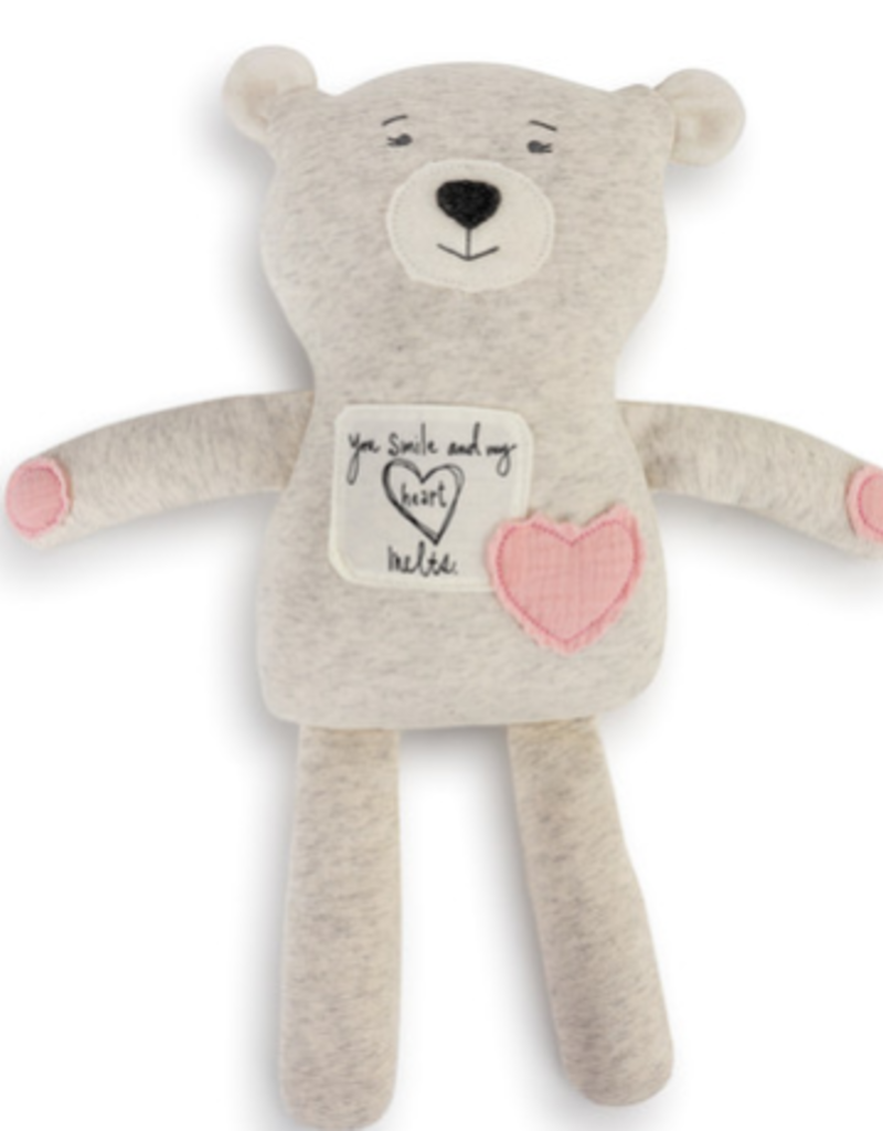 DEM 'YOU SMILE MY HEART MELTS' POETIC BEAR-PINK