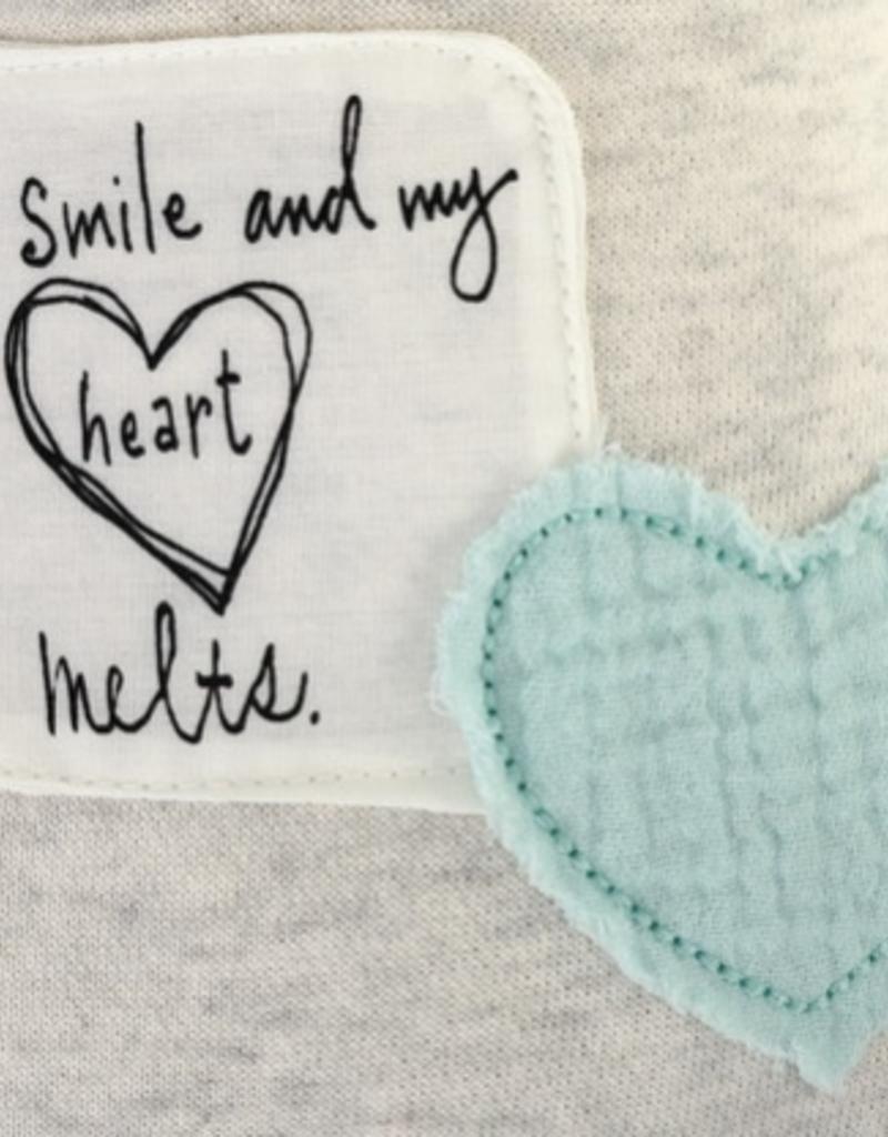 DEM 'YOU SMILE MY HEAR MELTS' POETIC BEAR-BLUE