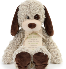 DEM 'HELLO BIG BRO' TAN PLUSH DOG
