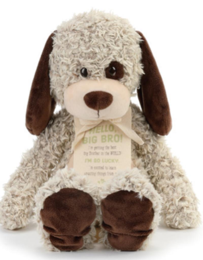 DEM 'HELLO BIG BRO' TAN PLUSH DOG