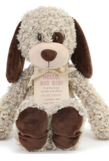 DEM 'HELLO BIG SIS' TAN PLUSH DOG
