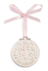 DEMDACO GOD BLESS BABY MEDALLION PINK
