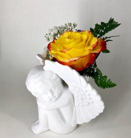 FLOWER SHOP CHERUB ANGEL VASE