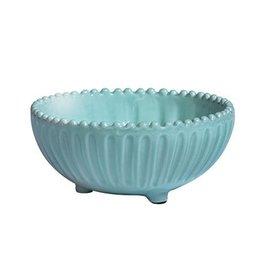 Vietri Incanto Stripe Footed Bowl - Aqua