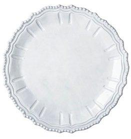 Vietri Incanto Baroque Round Platter - White