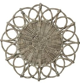 Juliska Waveney Wicker Charger - Graywash - Set of 4