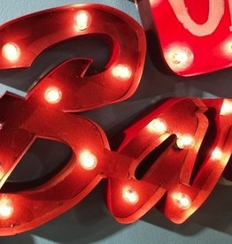 Bar Electric Sign - Red