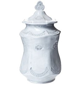 Vietri Incanto Lace Large Canister - White