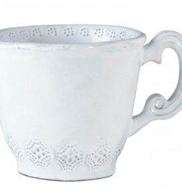 Vietri Incanto Lace Mug - White