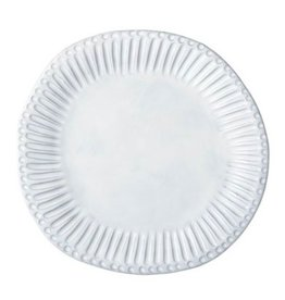 Vietri Incanto Stripe Dinner Plate -  White