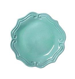 Vietri Incanto Baroque Salad Plate - Aqua