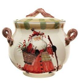 Vietri Old St. Nick Biscotti Jar
