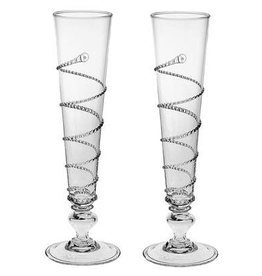 Juliska Pair of Amalia Champagne Flutes