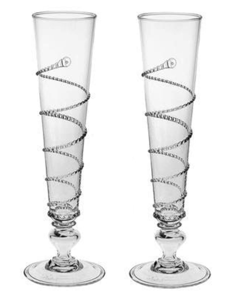 Juliska Amalia Champagne Flutes - Pair