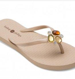 Lindsay Phillips Kelli Flip Flop - Stone - Size 9