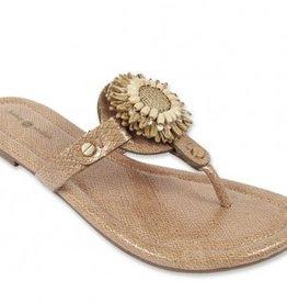 Lindsay Phillips Rosie Sandal - Neutral Snakeskin - Size 6