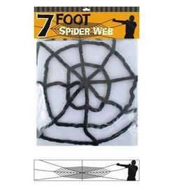 Chenille Spider Web - Black