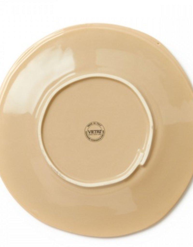Vietri Lastra European Dinner Plate - Cappuccino