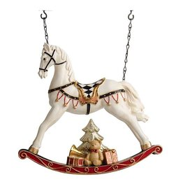 Rocking Horse w/ Christmas Tree and Presents Entrance Hanger