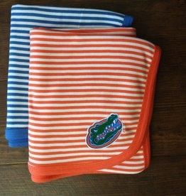 Gator Striped Knit Blanket