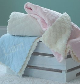 Quilted Plush Baby Blanket - Ivory