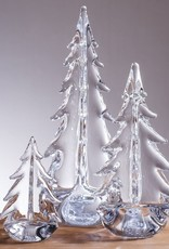 """Simon Pearce Clear Vermont Evergreen Tree in Gift Box - 6"""""""
