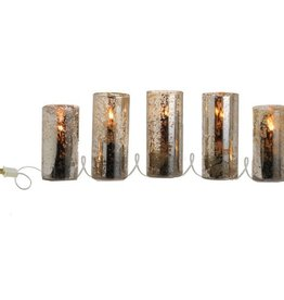 "Antiqued Lighted Candle Strand - 5 Lights - 78"""