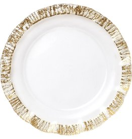 Vietri Rufolo Glass Gold Service Plate/Charger