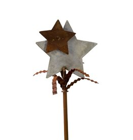"""Celebrate Every Day"" Galvanized Rust Star Finial"
