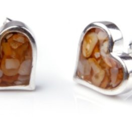 Dune Jewelry Sand Jewel Earrings - Heart - Crescent Beach