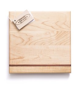 Bar Block Cutting Board - SIngle Stripe - 9""