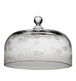 """William Yeoward Crystal Country Wisteria Comport (Cake) Dome - 9"""""""