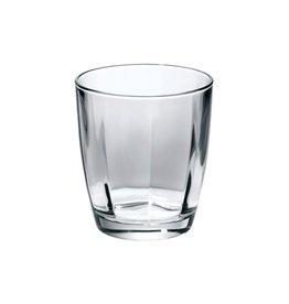 Vietri Optical Smoke Gray Double Old Fashioned Glass