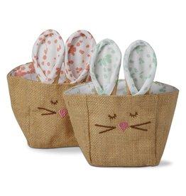 Jute Bunny Ears Basket