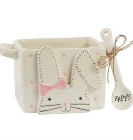 Pink Bunny Candy Caddy Set