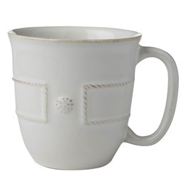Juliska Berry and Thread French Panel Coffee/Tea Cup - Whitewash