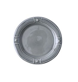Juliska Berry & Thread French Panel Side Plate - Stone Grey