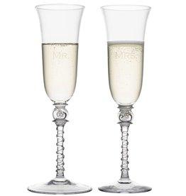 Juliska Mr. & Mrs. Amalia Tulip Champagne Flute Set/2
