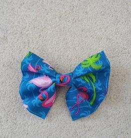 Hot Dog Bowtie - Royal Blue Flamingo - Medium