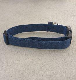 Hot Dog Collar - Blue Jean Denim - Large