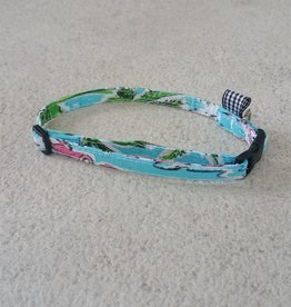 Hot Dog Collar - Tropical Flamingo - Small