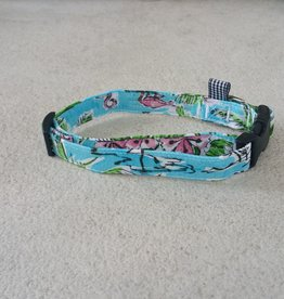 Hot Dog Collar - Tropical Flamingo - Medium