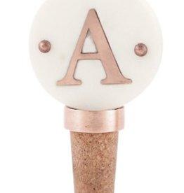 A Initial Copper Bottle Stopper